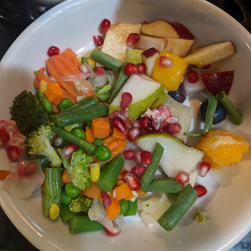 Finished Meal Quick Blueberry Pear Fruit Salad