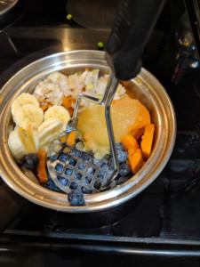Simple blueberry Banana Yam Salad