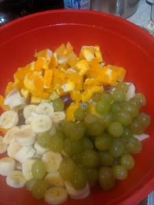 Two Bean Veggie & Fruit Salad