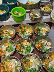 Chicken Veg with Fruit Salad