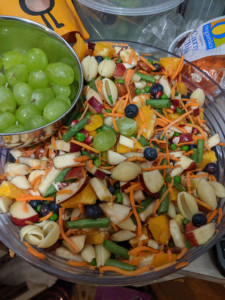 Simple Four Almond Fruit Salad