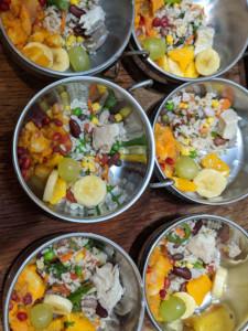 Simple Banana Yam Rice Salad