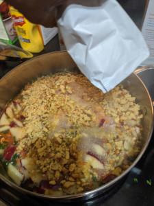 Corny Cranberry Stuffing Holiday Dish