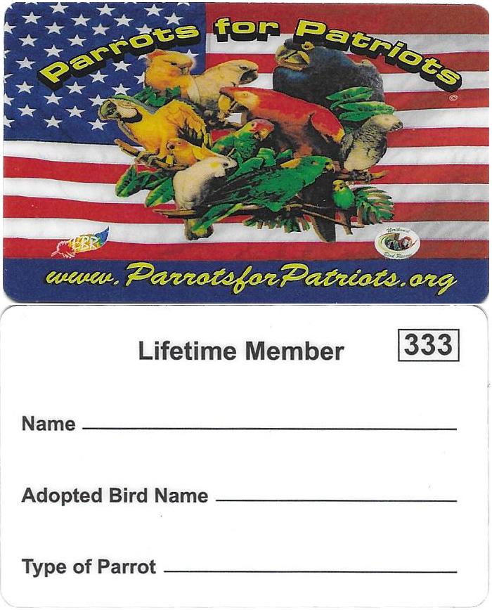 Lifetime Membership Card