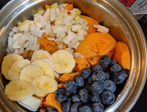 Simple Blueberry Banana & Yam Salad